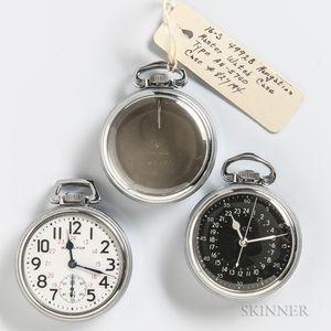 "Three Hamilton ""Navigation Master Watch"" Cases"