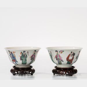 Pair of Enameled Bowls