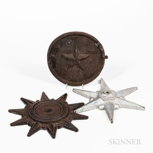 """Two Cast Iron Building """"Stars"""" and a Door"""