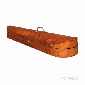 English Amboyna Veneer Dart Violin Case