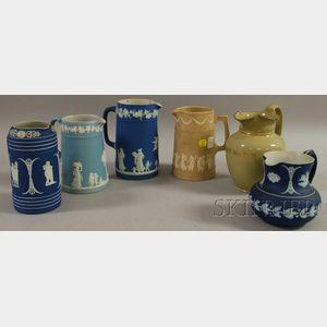 Six Assorted English Ceramic Jugs