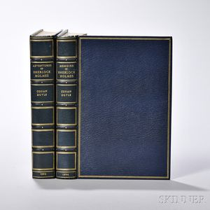 Doyle, Sir Arthur Conan (1859-1930) The Adventures of Sherlock Holmes [and] The Memoirs of Sherlock Holmes, with Autograph Letter Signe