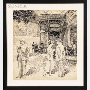 Orson Byron Lowell (American, 1871-1956)      The Honeymoon Couple