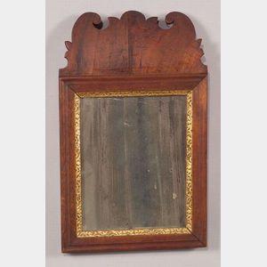 Walnut Veneer and Gilt Gesso Mirror