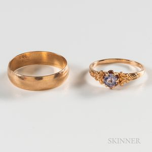 Two 14kt Rose Gold Rings