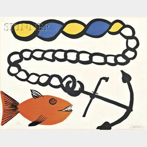 Alexander Calder (American, 1898-1976)      Poisson pas ancre