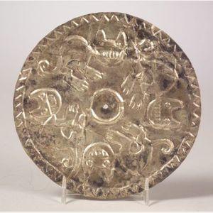 Pre-Columbian Repoussé Silver Disc