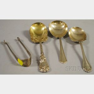 Four American Silver Flatware Servers