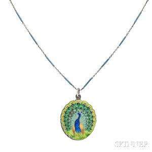 Art Nouveau Silver and Enamel Locket