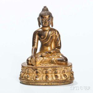 Gilt-copper Alloy Figure of Buddha