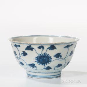 Small Export Blue and White Bowl