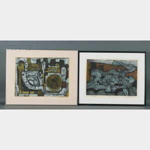 John Bernhardt (American, 1921-1963)    Lot of Two Prints: Ghost of a Radio