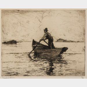 Frank Weston Benson (American, 1862-1951)      The Lobsterman