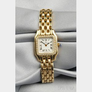 Lady's 14kt Gold and Diamond Wristwatch, Concord