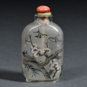 Interior-painted Glass Snuff Bottle