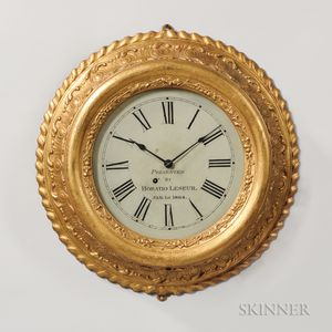 Chauncey Jerome Gilt Gallery Clock