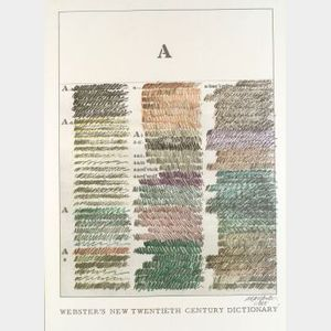 Shusaku Arakawa (Japanese, b. 1936)  Webster's New Twentieth Century Dictionary