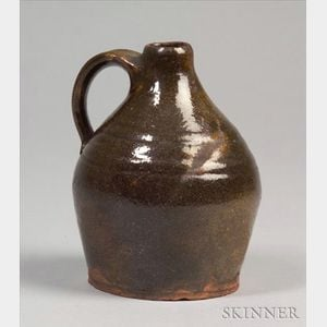 Small Green Glazed Redware Jug