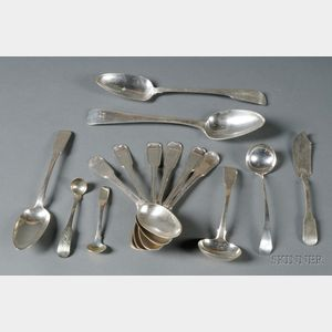 Assembled Group of Chinese Export Silver Flatware