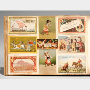Large Album of 19th Century Mostly Chromolithograph Trade Cards