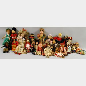 Approximately Thirty Miscellaneous Dolls