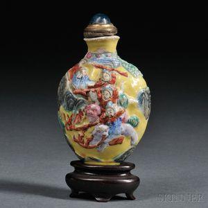 Enameled Ceramic Snuff Bottle
