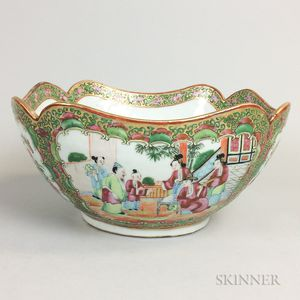 Rose Medallion Porcelain Bowl