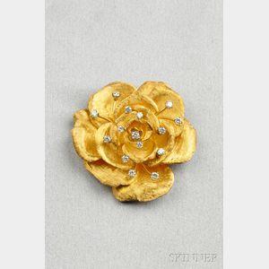 18kt Gold and Diamond Brooch, Cartier