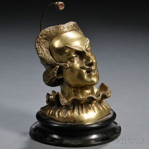 Mephistopheles-form Bronze Inkwell