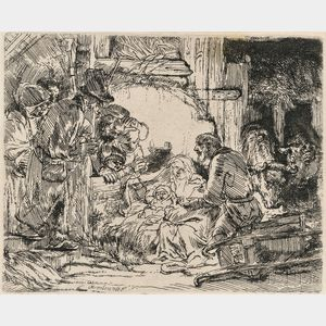 Rembrandt van Rijn (Dutch, 1606-1669)      The Adoration of the Shepherds: With the Lamp