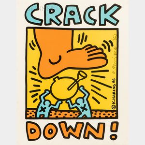 Keith Haring (American, 1958-1990)      Crack Down!