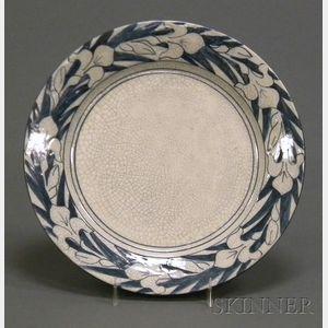 Dedham Pottery Iris Pattern Plate
