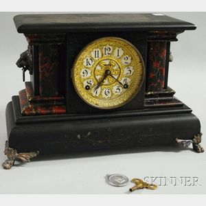 Ingraham Black Mantel Clock