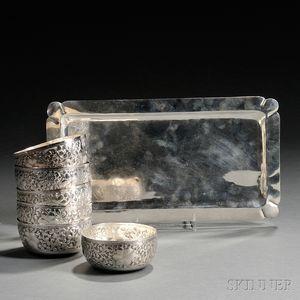 Seven Pieces of Silver Tableware