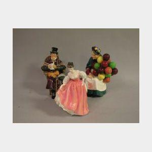 Three Royal Doulton Ceramic Figures