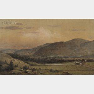 Lemuel Maynard Wiles (American, 1826-1905)      Mt. Everett - Mass.