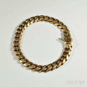 14kt Gold Curb Link Bracelet
