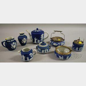 Eight Dark Blue Jasper Dip Items
