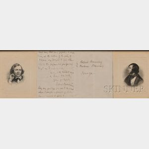Browning, Robert (1812-1889) Autograph Letter Signed, Undated.