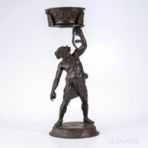 Grand Tour Bronze Figure of a Drunken Silenus