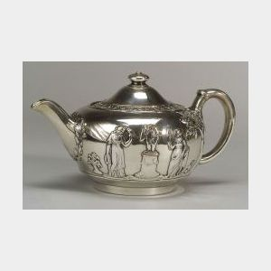Wedgwood Silver Plated Stoneware Teapot and Cover