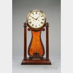 Mahogany Shelf Lyre Clock