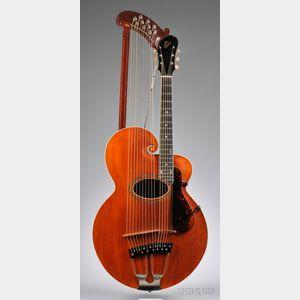 American Harp Guitar, Gibson Mandolin-Guitar Company, Kalamazoo, c. 1920,    Style U
