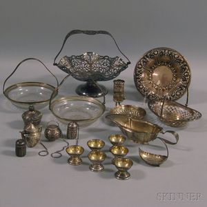 Small Group of Mostly Sterling Silver Tableware