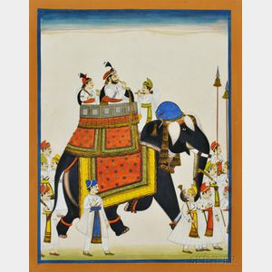 Painting of a Procession with an Elephant