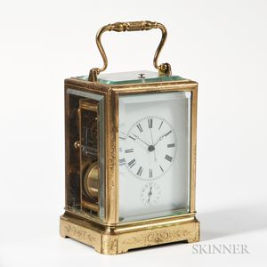 Carriage Clock with Sweep Center Seconds
