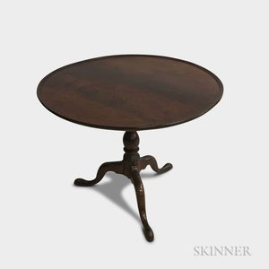 Queen Anne Walnut Birdcage Tilt-top Tea Table