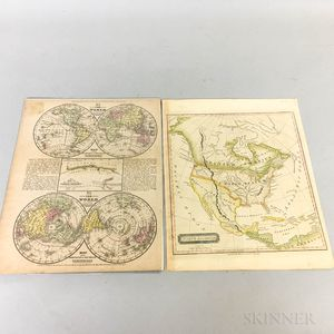 Two Hand-colored Map Engravings