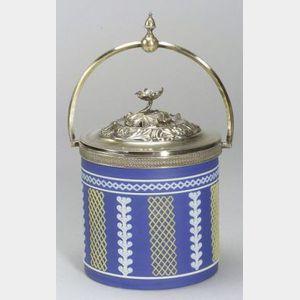 Wedgwood Three Color Jasper Dip Biscuit Jar