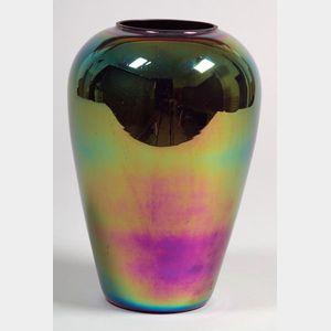 Modern Iridescent Art Glass Vase